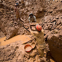 Local mining for gold in the village of Mongbwalu in Eastern Congo.