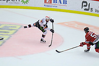 2019-11-16 | Örebro, Sweden: Malmö Redhawks (8) Johan Olofsson during the game between Örebro HK and Malmö Redhawks at Behrn Arena ( Photo by: Hasse Persson | Swe Press Photo )<br /> <br /> Keywords: Behrn Arena, Örebro, Ice hockey, SHL, Örebro HK, Malmö Redhawks, hpöm191116