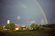Rainbow over farm, Berks Co., PA