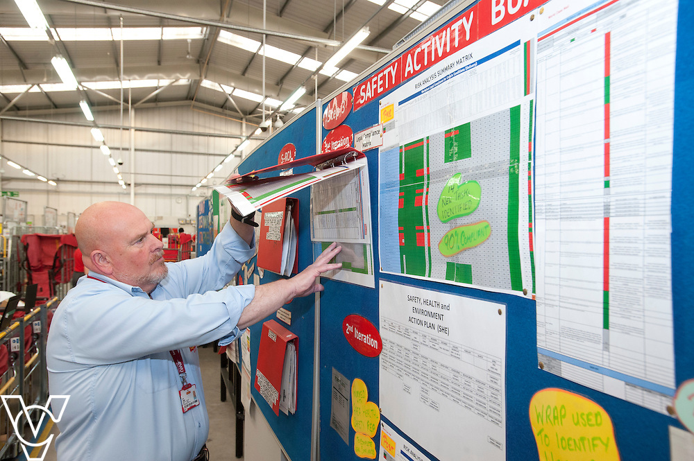 Pictured if Geoff Hughes <br /> <br /> Royal Mail - North West Delivery Office.  Bronze in the World Class Mail Awards.<br /> <br /> Date: April 28, 2015