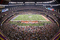 3 February 2013: The Baltimore Ravens play against the San Francisco 49ers during the first half of the Ravens 34-31 victory over the 49ers in Superbowl XLVII at the Mercedes-Benz Superdome in New Orleans, LA.