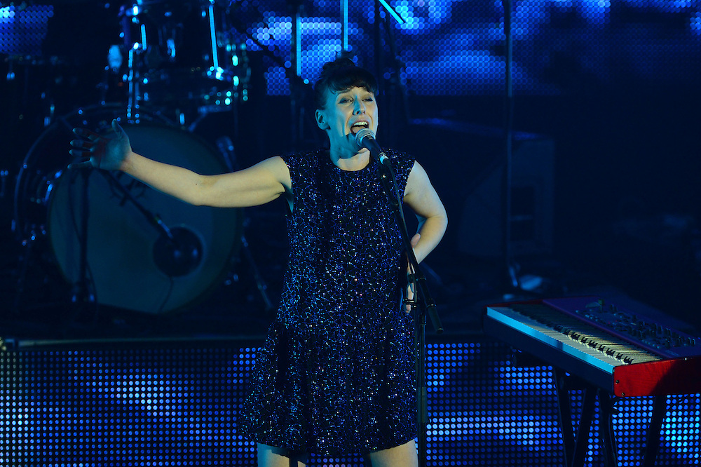 L.A Mitchell performing on stage at the APRA Silver Scrolls Awards 2012. Auckland Town Hall. 13 September 2012.