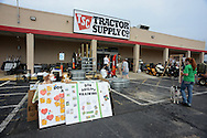 Creek County 4-H Dog Club conducting a flea dip and recruiting event at the Bristow Tractor Supply Company.