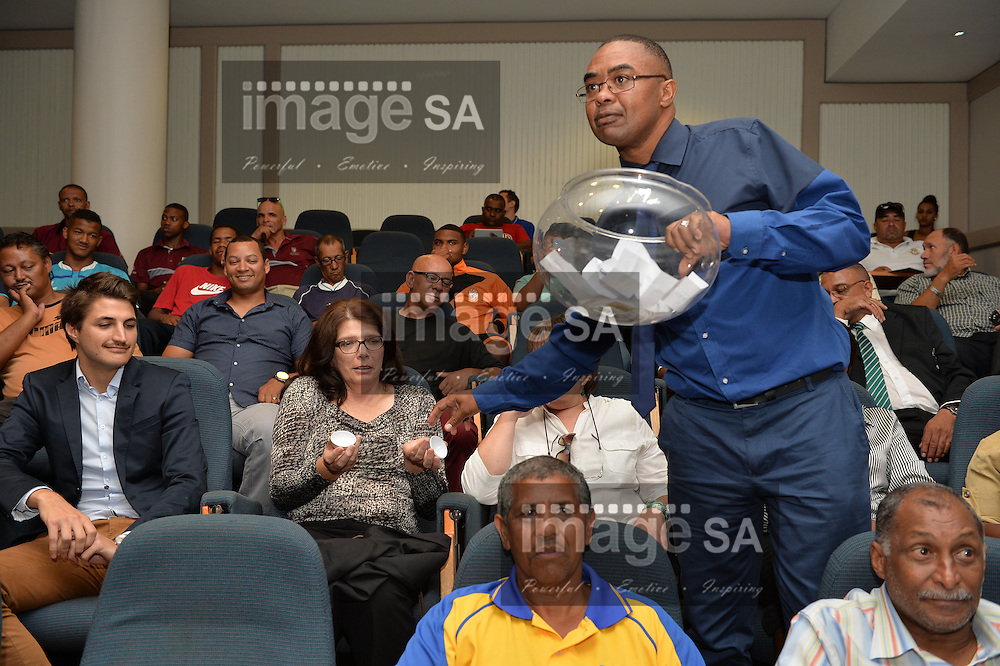 CAPE TOWN, SOUTH AFRICA - Wednesday 2 March 2016, during the draw of the Metropolitan U19 Premier Cup and the Sports Science Institute in Newlands. The tournament takes place at Erica Park in Belhar and runs from the 23rd to 28 March 2016.<br /> Photo by Roger Sedres/ImageSA