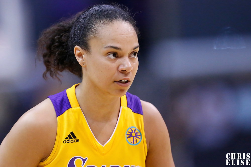 25 May 2014: Los Angeles Sparks guard Kristi Toliver (20) is seen during the Los Angeles Sparks 83-62 victory over the San Antonio Stars, at the Staples Center, Los Angeles, California, USA.