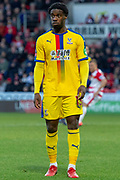 Crystal Palace defender Jeffrey Schlupp (15) during the The FA Cup 5th round match between Doncaster Rovers and Crystal Palace at the Keepmoat Stadium, Doncaster, England on 17 February 2019.