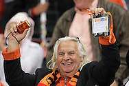 CAPE TOWN, SOUTH AFRICA- Tuesday 6 July 2010, a Dutch fan during the semi final match between Uruguay and the Netherlands (Holland) held at the Cape Town Stadium in Green Point during the 2010 FIFA World Cup..Photo by Roger Sedres/Image SA