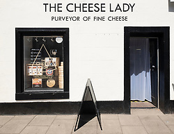Independent shop, The Cheese Lady,  on High Street , Haddington, East Lothian, Scotland, UK