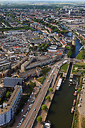 Nederland, Zuid-Holland, Schiedam, 23-05-2011; haven met molen Nolet (distilleerderij).luchtfoto (toeslag), aerial photo (additional fee required).copyright foto/photo Siebe Swart