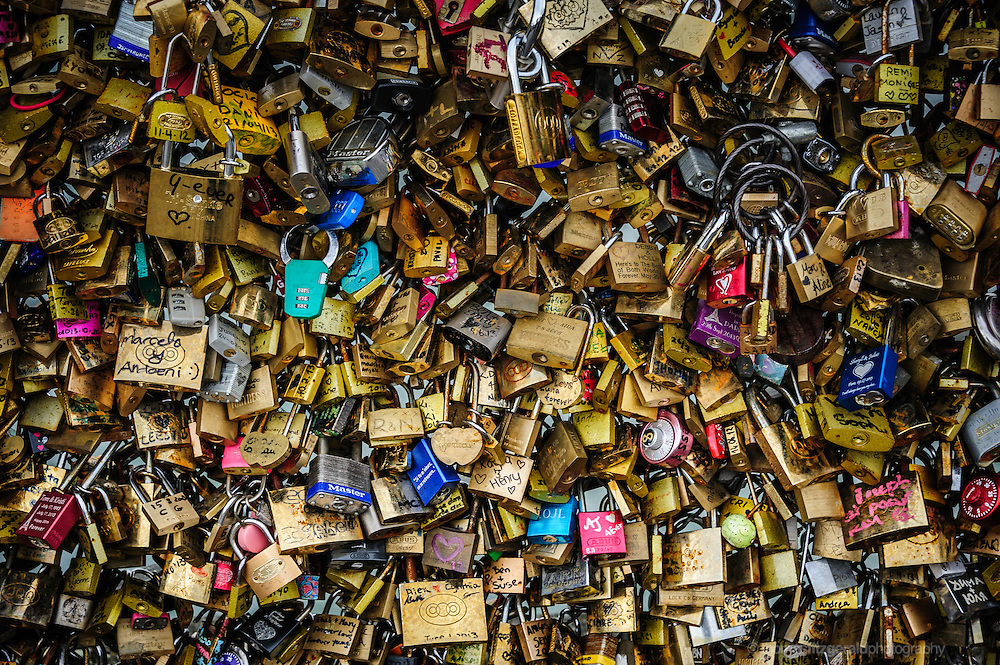 Love Locks on the Pont Des Arts in Paris