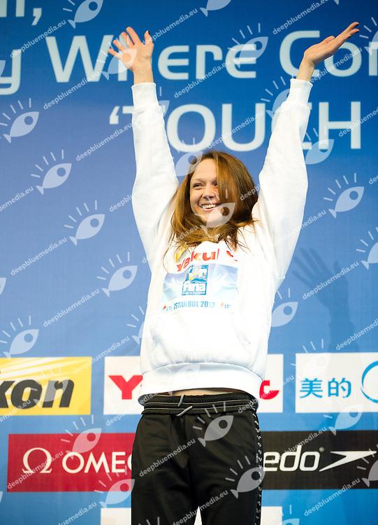 HERASIMENIA Aliaksandra BLR   Gold Medal.Women 50m Freestyle.FINA World Short Course Swimming Championships.Istanbul Turkey 12 - 16 Dec. 2012.Day 05.Photo G.Scala/Deepbluemedia/Inside