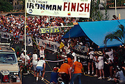 Ironman Triathlon Finish, Kailua-Kona, Island of Hawaii (editorial use only, no model release)<br />