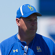 Delaware New Head Coach Dave Brock in the second half of The University of Delaware Annual Spring football game Saturday May. 04, 2013 at Delaware Stadium in Newark Delaware..
