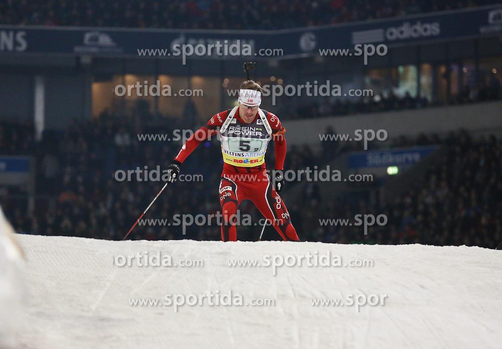 28.12.2013, Veltins Arena, Gelsenkirchen, GER, IBU Biathlon, Biathlon World Team Challenge 2013, im Bild Emil Hegle Svendsen (Norwegen / Norway) // during the IBU Biathlon World Team Challenge 2013 at the Veltins Arena in Gelsenkirchen, Germany on 2013/12/28. EXPA Pictures &copy; 2013, PhotoCredit: EXPA/ Eibner-Pressefoto/ Schueler<br /> <br /> *****ATTENTION - OUT of GER*****