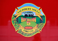 Salisbury Mills, New York - The logo for the Salisbury Mills Fire Company during the Orange County Volunteer Firemen's Association (OCVFA) annual parade on Sept. 24, 2011.