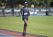 Jun 23, 2019; Miramar, FL, USA; Jordan Crawford wins the 10,000m race walk in 53:40.03 during the USATF U20 Championships at Ansin Sports Complex.