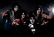Dressed as the band Kiss; (from left) Mark and Cindi Rasmussen of Grand Rapids as Ace Freely and Peter Chris along with Sheri and Darin Dehaan of Byron Center as Paul Stanley and Gene Simmons during the Halloween costume contest at The B.O.B. on Saturday, October 29, 2011..Date Shot 10-29-2011.(Matt Gade | The Grand Rapids Press)