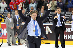 15.04.2011, Orange Arena, Bratislava, SVK, IIHF 2011 World Championship, Finale, SWEDEN vs FINLAND, im Bild HEAD COACH JUKA JALONEN... EXPA Pictures © 2011, PhotoCredit: EXPA/ EXPA/ Newspix/ .Tadeusz Bacal +++++ ATTENTION - FOR AUSTRIA/(AUT), SLOVENIA/(SLO), SERBIA/(SRB), CROATIA/(CRO), SWISS/(SUI) and SWEDEN/(SWE) CLIENT ONLY +++++