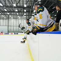 1st year forward Tristan Frei (13) of the Regina Cougars in action during the Men's Hockey Home Game on November 19 at Co-operators arena. Credit: Arthur Ward/Arthur Images