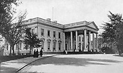 White House, Washington, official residence of president of USA, from photograph published September 1901 at time of McKinley's assassination.