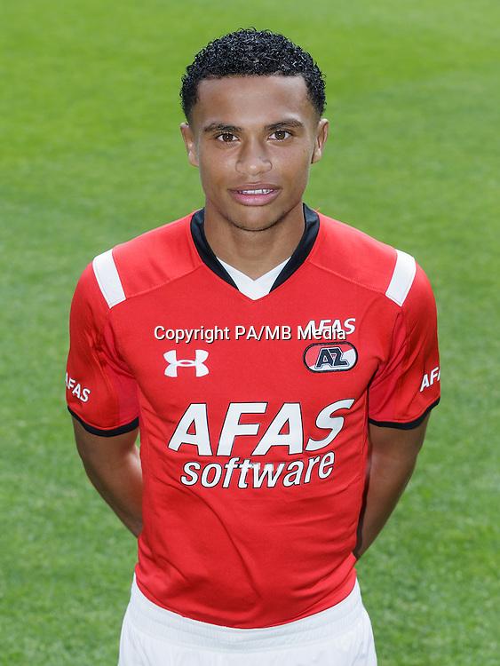 Dabney dos Santos during the team photocall of AZ Alkmaar on July 17, 2015 at Afas Stadium in Alkmaar, The Netherlands