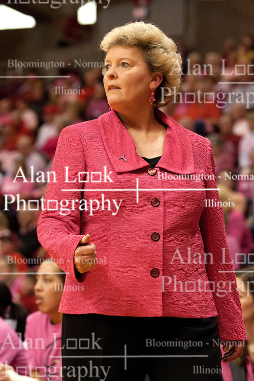 12 February 2012:  Stephanie Glance during an NCAA women's basketball game Where the Bradley Braves lost to the Illinois Sate Redbirds 82-63.  It was Play 4Kay day in honor of the cancer research fund set up by Coach Kay Yow at Redbird Arena in Normal IL