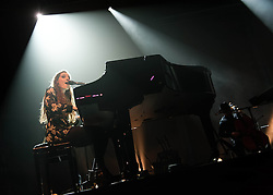 "© Licensed to London News Pictures. 04/03/2014. London, UK.   Birdy performing live at The Forum. Birdy (real name Jasmine van den Bogaerde), is an English musician who was nominated in the 2014 Brit Awards in the ""British Female Solo Artist"" category.  She  won the music competition Open Mic UK in 2008 and is promoting her second album ""Fire Within"".   Photo credit : Richard Isaac/LNP"