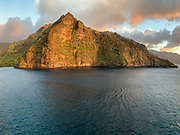 Coastline between Omao and Hanavave, Fatu Hiva, Marquesas, French Polynesia, South Pacific