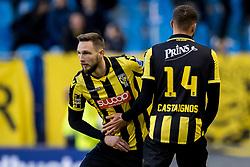 (L-R) Tim Matavz of Vitesse, Luc Castaignos of Vitesse during the Dutch Eredivisie match between Vitesse Arnhem and Roda JC Kerkrade at Gelredome on March 31, 2018 in Arnhem, The Netherlands
