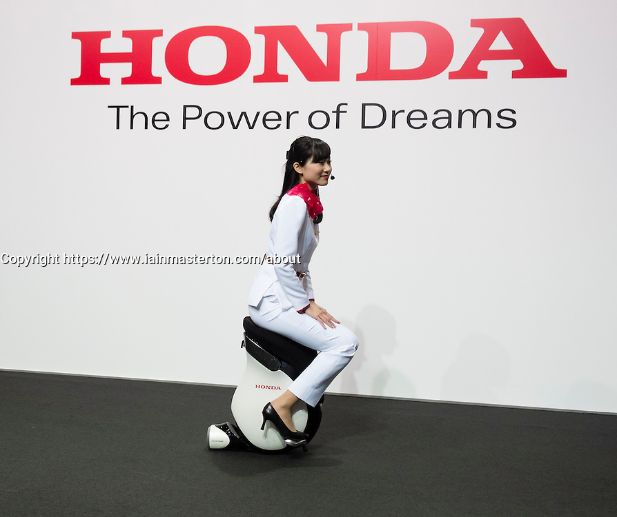 Honda Uni-CUB electric concept   personal Mobility Device on display at Tokyo Motor Show 2013 in Japan