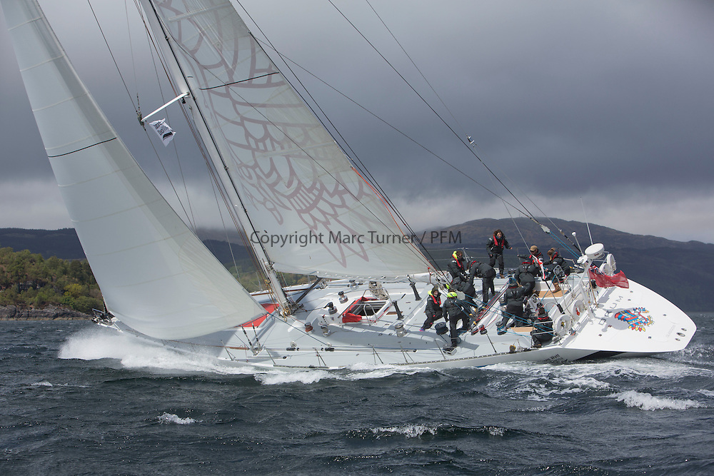Day one of the Silvers Marine Scottish Series 2015, the largest sailing event in Scotland organised by the  Clyde Cruising Club<br /> Racing on Loch Fyne from 22rd-24th May 2015<br /> <br /> K3797, Drum, Sir Arnold Clark, CCC, Holland 77<br /> <br /> Credit : Marc Turner / CCC<br /> For further information contact<br /> Iain Hurrel<br /> Mobile : 07766 116451<br /> Email : info@marine.blast.com<br /> <br /> For a full list of Silvers Marine Scottish Series sponsors visit http://www.clyde.org/scottish-series/sponsors/