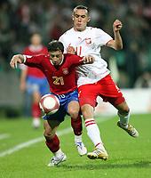 Fotball<br /> EM-kvalifisering<br /> 06.09.2006<br /> Polen v Serbia<br /> Foto: Wrofoto/Digitalsport<br /> NORWAY ONLY<br /> <br /> IRENEUSZ JELEN /R/ OF POLAND AND MARJAN MARKOVIC /L/ OF SERBIA