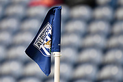 The corner flag with WBA Badge motif during the EFL Sky Bet Championship match between West Bromwich Albion and Reading at The Hawthorns, West Bromwich, England on 21 August 2019.