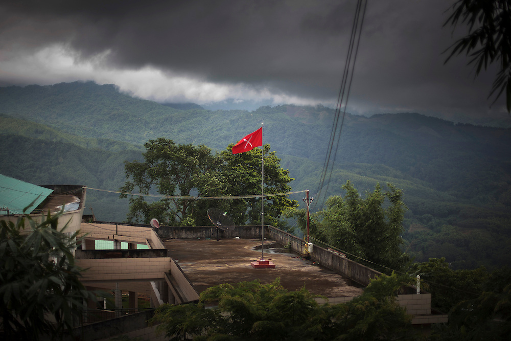 A view of the Kachin Independence Army Headquarters in Laiza village close to the China border, Myanmar on July 19, 2012.