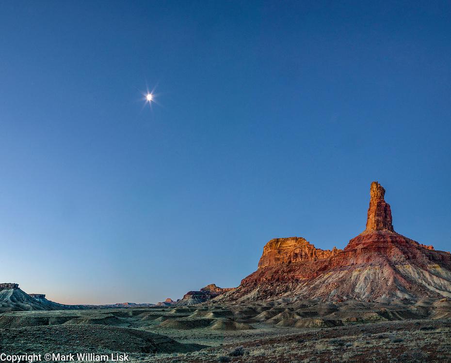 Bottle Neck Peak rises above the desert floor of the San Rafael Swell, Utah.