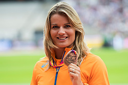 07-08-2017 IAAF World Championships Athletics day 4, London<br /> Dafne Schipper NED bronze medaille op de 100 meter