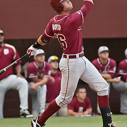 June 04, 2011; Tallahassee, FL, USA; Florida State Seminoles first baseman Jayce Boyd (16) at bat during the first inning of the Tallahassee regional of the 2011 NCAA baseball tournament game against the Alabama Crimson Tide at Dick Howser Stadium. Mandatory Credit: Derick E. Hingle
