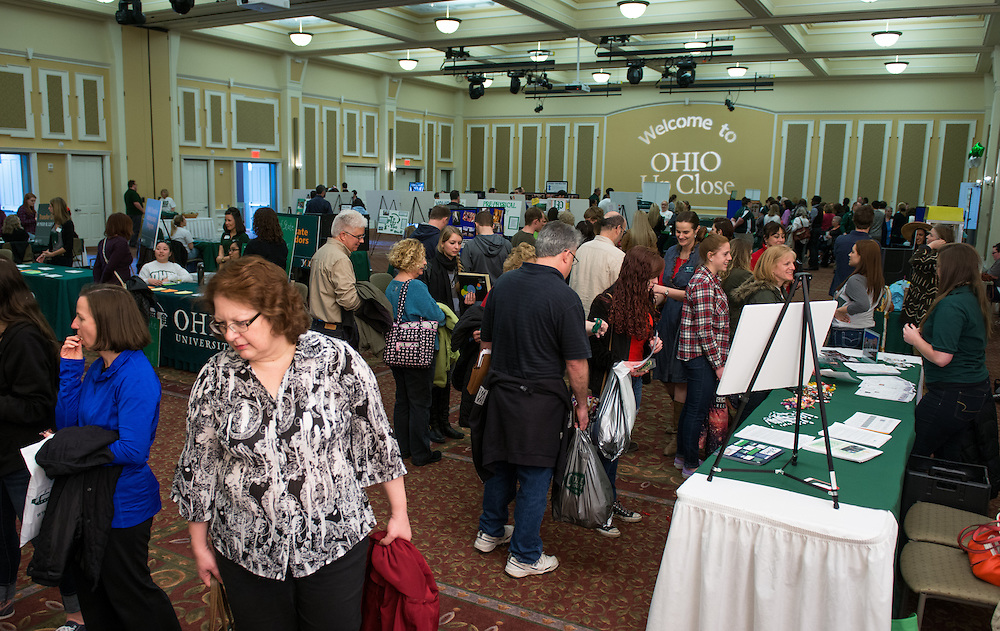 Many attended the Ohio Up Close Resource fair event held in the Baker Center Ballrooms.