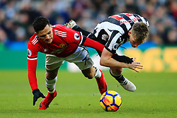 Alexis Sanchez of Manchester United clashes with Matt Ritchie of Newcastle United - Mandatory by-line: Matt McNulty/JMP - 11/02/2018 - FOOTBALL - St James Park - Newcastle upon Tyne, England - Newcastle United v Manchester United - Premier League
