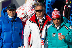 19.02.2011, Gudiberg, Garmisch Partenkirchen, GER, FIS Alpin Ski WM 2011, GAP, Damen, Slalom, im Bild v.l. Christian Neureuther (GER), ÖSV Sportdirektor Hans Pum und ÖSV Präsident Peter Schröcksnadel. //  v.l. Christian Neureuther (GER), ÖSV Alpinchef Hans Pum und ÖSV Präsident Peter Schröcksnadel during Ladie's Slalom Fis Alpine Ski World Championships in Garmisch Partenkirchen, Germany on 19/2/2011. EXPA Pictures © 2011, PhotoCredit: EXPA/ J. Groder