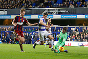 Queens Park Rangers midfielder Pawel Wszolek (15) takes it past Ipswich Town goalkeeper Bartosz Bialkowski (33) to score (2-1) during the EFL Sky Bet Championship match between Queens Park Rangers and Ipswich Town at the Loftus Road Stadium, London, England on 2 January 2017. Photo by Andy Walter.