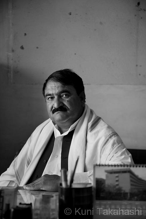 Meya Gul, 43, of Kabul, car dealer.in Kabul, Afghanistan on Aug 15, 2011..(Photo by Kuni Takahashi)