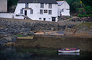 AE2KX9 Porthleven harbour low tide Cornwall England