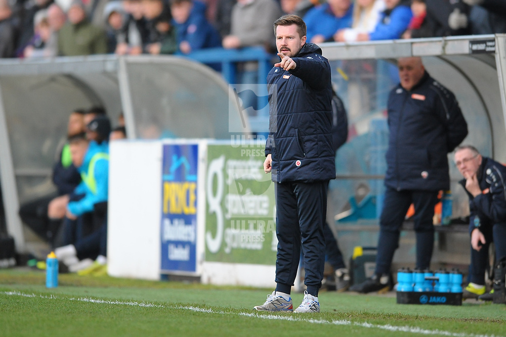 TELFORD COPYRIGHT MIKE SHERIDAN Farsley boss Adam Lakeland during the Vanarama Conference North fixture between AFC Telford and Farsley Celtic at the New Bucks head Stadium on Saturday, December 7, 2019.<br /> <br /> Picture credit: Mike Sheridan/Ultrapress<br /> <br /> MS201920-033