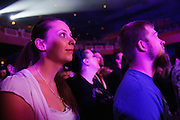 Fans during George Thorogood's headlining performance at The Pageant in St. Louis on March 21, 2012.