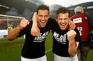 22-05-2016 VOETBAL: WILLEM II - NAC BREDA:TILBURG<br /> Promotie/degradatiewedstrijd<br /> Erik Falkenburg van Willem II (R) en Guus Joppen van Willem II (L) <br /> Foto: Geert van Erven
