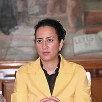 Toluca, México.- La Diputada Ana Yurixi Leyva Piñón durante el foro de Equidad de Genero y la No Violencia a la Mujer, organizado por el Barzón en la Cámara de Diputados. Agencia MVT / José Hernández