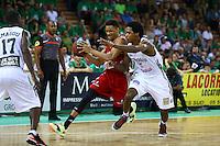 Axel Toupane / Mickael Gelabale  - 20.06.2015 - Limoges / Strasbourg - Finale Pro A<br /> Photo : Manuel Blondeau / Icon Sport
