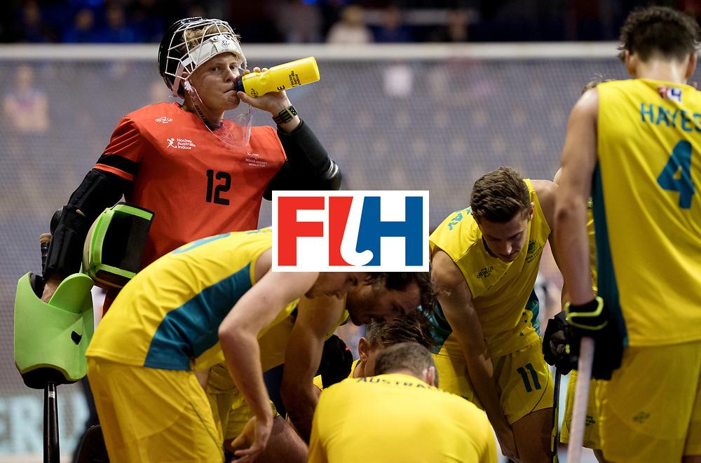 BERLIN - Indoor Hockey World Cup<br /> Men: Germany - Australia<br /> foto: RENNIE Benjamin (GK).<br /> WORLDSPORTPICS COPYRIGHT FRANK UIJLENBROEK