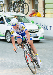 Brett Lancaster (AUS) of Orica-Green Edge competes during Stage 1of  cycling race 20th Tour de Slovenie 2013 - Time Trial 8,8 km in Ljubljana,  on June 12, 2013 in Slovenia. (Photo By Vid Ponikvar / Sportida)